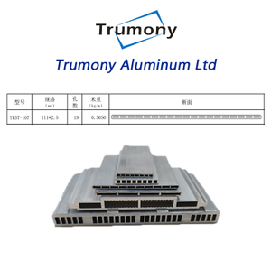 1100 heat transfer Aluminum Alloy MPE channel tube